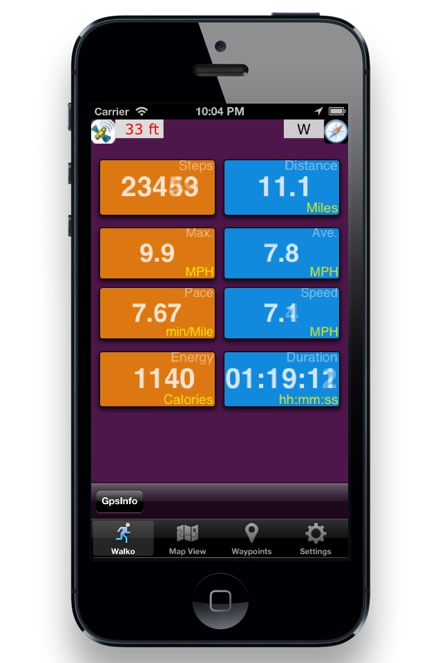 StepTRAX Main Screen